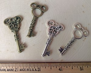 Disney inspired embellishments--Keys