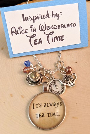 2020 NEW!  Disney inspired necklace  **Alice in Wonderland-Tea Time**