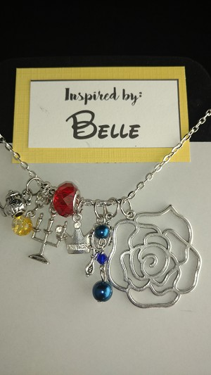 Disney inspired necklace  **Belle**Beauty and the Beast