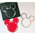 Disney inspired scrapbooking die-Large Mouse head shape, w/ little mouse heads