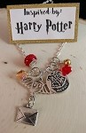 Harry Potter inspired necklace  **Hogwarts**  owl/letter