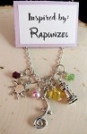 Disney inspired necklace  **Rapunzel**