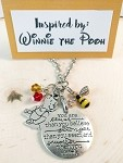 Disney inspired necklace  **Winnie the Pooh**  Always remember....