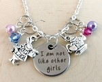 Disney inspired necklace  **Alice in Wonderland-I'm not like other girls!**