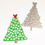 Disney inspired scrapbooking die-Christmas Tree-Mouse heads
