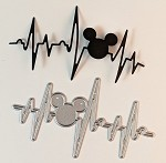 Disney inspired scrapbooking die-Heart Beat Mouse Head