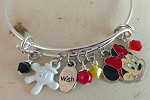 Disney inspired bracelet  **Minnie Mouse**