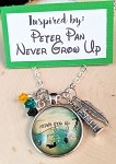 2020 NEW!  Disney inspired necklace  **Peter Pan-Never Grow Up**