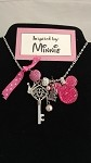 Disney inspired necklace  **Pink Minnie Mouse**