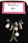 Pink Paris Love necklace